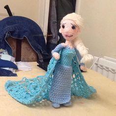 Snow Queen Elsa Amigurumi by Ulla-Andy