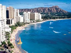 I got to go to Hawaii for my graduation and did NOT want to come back home...We stayed in one of the hotels in the center of this photo.