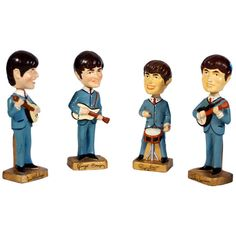 the beatles, fabulous four as head nodding figures | From a unique collection of antique and modern models and miniatures at http://www.1stdibs.com/furniture/more-furniture-collectibles/models-miniatures/