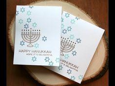 Holiday Card Series 2015 Hanukkah Card featuring Lawn Fawn Love You a Latke - Jennifer Home Feliz Hanukkah, Hanukkah Cards, Hannukah, Happy Hanukkah, Holiday Cards, Christmas Cards, Holiday Ideas, Jewish Celebrations, Christmas Holidays