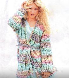 Толстый жакет с косами Вязание спицами для женщин | Секреты вязания