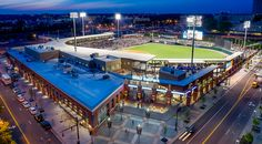 BB&T Ballpark, Home of the Charlotte Knights in Uptown Charlotte, NC.