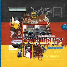 Germany layout by Roxana; MouseScrappers.com; Epcot