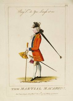 The Martial Macaroni 1777