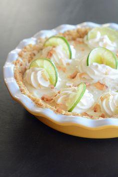 Key Lime Pie with Macadamia Nut Crust