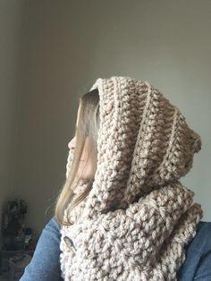Originální šála s kapucí Crocheting, Beanie, Hats, Fashion, Crochet, Moda, Hat, Fashion Styles, Beanies