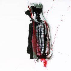 Carl in the season 7B promo