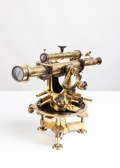 """No. 104 Theodolite      Brass and metal     Signed """"SUSS N. Budapest"""" n° 732, middle of 19th c.     Price: CHF 5'900.- (including Swiss VAT)"""