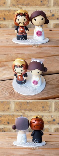 Ironman and bride cake topper by Genefy Playground https://www.facebook.com/genefyplayground