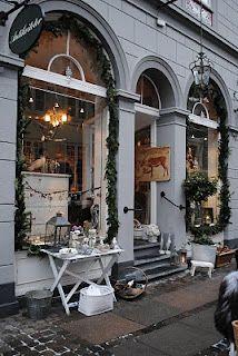 Antikviteter Shop, Christmas in Copenhagen, Denmark