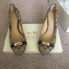 Coach shoes Brand new 8.5 price firm Coach Shoes Heels