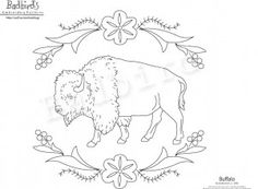 Free Bison / Buffalo Embroidery Pattern. Last night I watched a heartbreaking documentary on the plight of the buffalo on PBS: American Buffalo: Spirit of a Nation. You can watch it online. I highly recommend it.