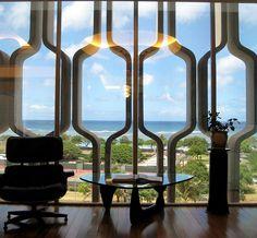 mid century sunscreen | Mid Century Modern Decorative Concrete Screen