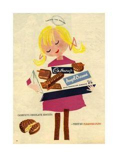 1960s UK Cadbury's Magazine Advertisement Reproduction procédé giclée sur AllPosters.fr