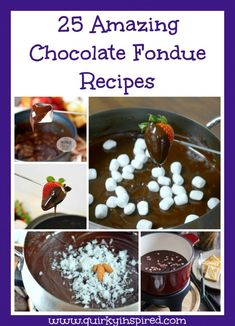 These 25 easy chocolate fondue recipes are to die for. There's dark chocolate, milk chocolate, white chocolate, and even Nutella fondue!