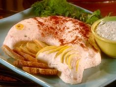 Get Paula Deen's Smoked or Poached Salmon Mousse with Dill Sauce Recipe from Food Network (good sauce)