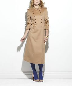 Take a look at this Camel Sundance Wool Peacoat by TART Collections on #zulily today!