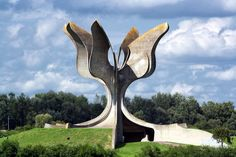 Jasenovac Monument, Jasenovac, Croatia, Bogdan Bogdanovic.