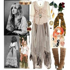 Here is Stevie Nicks Outfits for you. Stevie Nicks Outfits stevie nicks style archives confessions of a refashionista. Hippie Style, Style Boho, Gypsy Style, Boho Hippie, Boho Chic, My Style, Haute Hippie, Goth Style, Stevie Nicks Costume