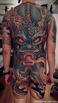 Tattoos are part of a tradition that goes back thousands of years, and tattoos that cover large portions of the body are vital to understand the art of tattooin Dragon Tattoo Full Back, 3d Dragon Tattoo, Dragon Tattoos For Men, Full Back Tattoos, Back Tattoos For Guys, Japanese Dragon Tattoos, Full Body Tattoo, Japanese Tattoo Art, Mens Body Tattoos