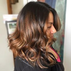 Wavy+Balayage+Hairstyle+For+Brunettes