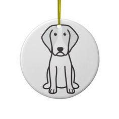 Brittany Dog Cartoon Christmas Ornaments