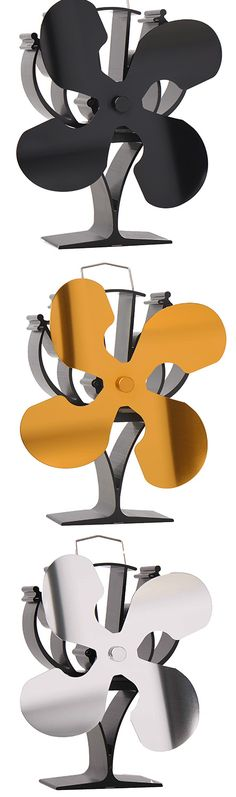 Heat Powered Stove Top Fan, Eco Fan and 4 Blades Stove Fan