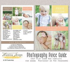Photography Price List   Photography Pricing by TiramisuDesign, $8.00