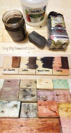 Easy DIY Dark Wood Stain