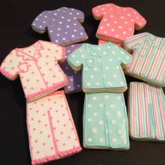 Colorful Pajama Party Decorated Sugar Cookies - 12 Pieces by KJ Cookies on Gourmly