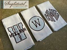 Set of 3 Customized Baby Boy Burp Cloths by SewphisticatedGifts, $25.00