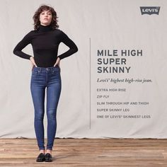 49ad9144 Levi's Mile High Super Skinny Jeans Levis Skinny Jeans, Skinny Ankle Jeans,  Blue Skinny