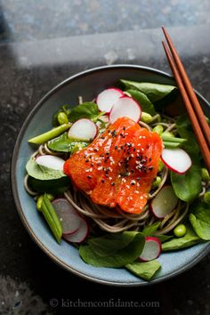 Salmon and Soba Noodle Salad by Kitchen Confidante