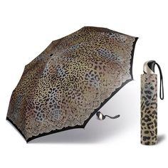 Deštník Happy Rain Leo Lace - dámský skládací plně automatický deštník Barva Hnědá Women's Umbrellas, Ladies Umbrella, Leo, Rain, Happy, Design, Rain Fall, Ser Feliz