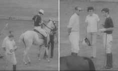 Footage shows Charles and Philip playing polo in 1966