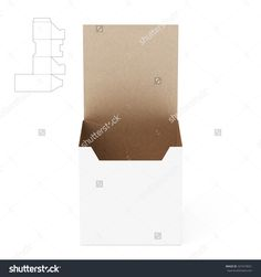 Tall Counter Display Box With Die Line Template Stock Photo 327419651 : Shutterstock
