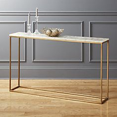 Thin, antique brass base defines the clean and simple silhouette of our white agate console table. Cool rectangular top spotlights large white agate pieces, each different in shape/size/tone. Brass Console Table, Modern Console Tables, Sofa Tables, Narrow Console Table, Hallway Console, Entry Hallway, Acrylic Table, White Agate, White Marble