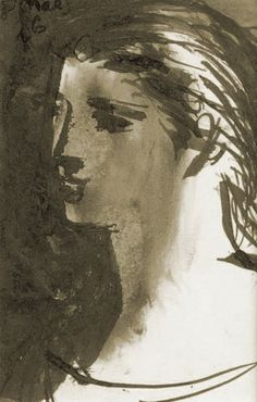 """Pablo Picasso - """"Head of a Woman"""". 1921"""