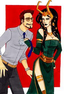 Tony x Lady Loki by Zzoi-Goi on DeviantArt