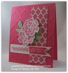 New Stampin' Up! Mosaic Madness stamp set, Quatrafancy Specialty Paper, Modern Mosaic Embossing Folder