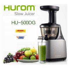 Slow Juicer Fruit Extractor Cold Pressing Masticating HUROM HU-500 43RPM #Hurom
