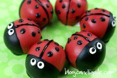 tutorial. Lady Bug Cake Bites @Miss CandiQuik