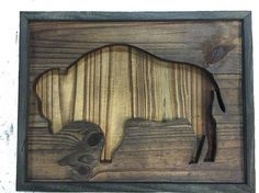 Items similar to Reclaimed Wood Buffalo on Etsy