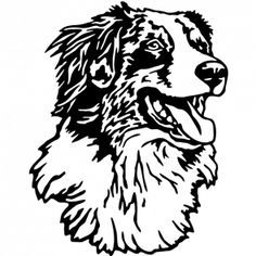 Afbeeldingsresultaat Voor Australian Shepherd Stencil Australian Shepherd Dog Silhouette Aussie Dogs