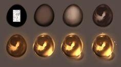 Magic egg step by step - tutorial by ryky