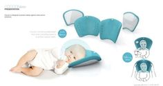 Protective Baby Pillows - Cocoon by Elodie Delassus Filters Noise and Germs for Sleeping Newborns