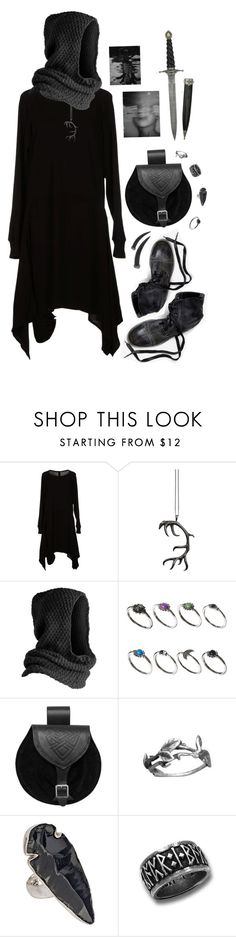 """""""Patient Hunter, Patient Night"""" by allapologiess ❤ liked on Polyvore featuring SILENT by Damir Doma, Justine Brooks, Ann Demeulemeester, Pieces, ASOS, Charles Albert and Bavna"""