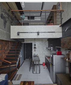 Hot Designs Inspiration of Attic You Must Know Condo Interior Design, Attic Design, Loft Design, Apartment Design, Condo Design, Design Design, Furniture Design, Mini Loft, Small Loft Apartments