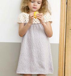 Modèle robe empiècement crochet Enfant - Modèles Enfant - Phildar