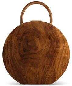 Anya Bumagina, walnut BU wood purse, made in Italy